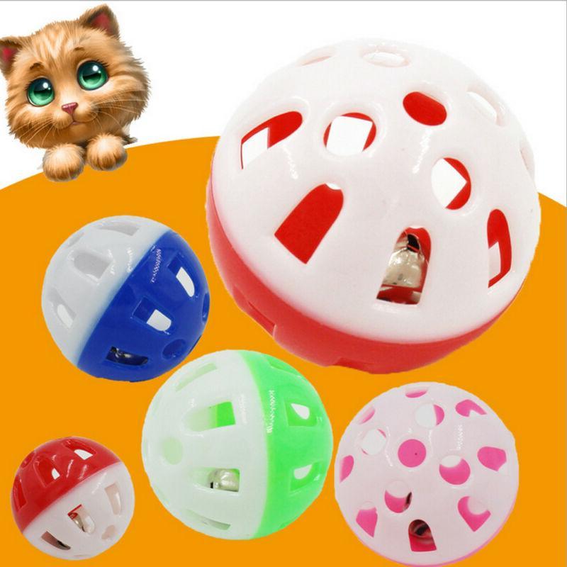 2x cat toys bell plastic puppy cat