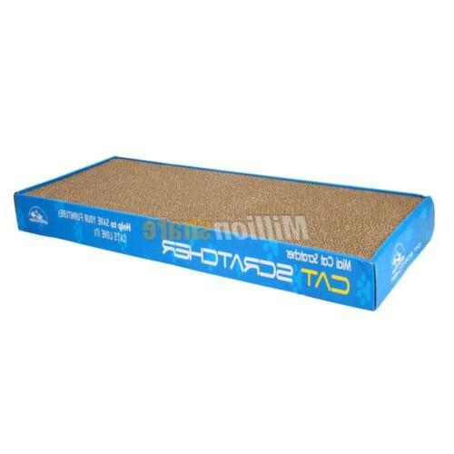 2x Dual-sided Cat Corrugated Scratcher Pad Toy with