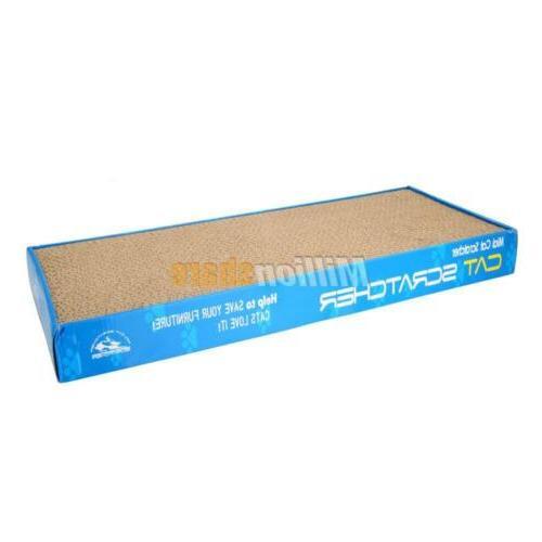 2x Corrugated Board Pad Toy Catnip