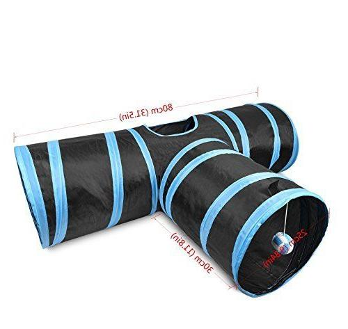 Creaker Tunnel Collapsible Pet Tunnel Ball for Puppy