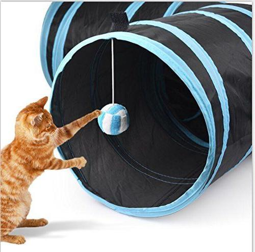 Creaker Tunnel Tunnel Ball for Puppy Rabbit