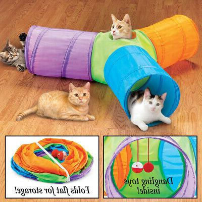 3 Way Pop Up Cat Tunnel Toys, Collections Etc