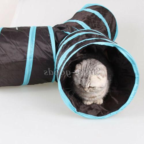 3 Pet Cat Tunnel Toy Outdoor Kitten Play USA