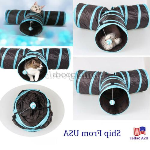 3 Pet Cat Tunnel Outdoor Foldable Play USA