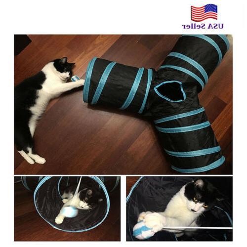 3 way y shape pet cat tunnel