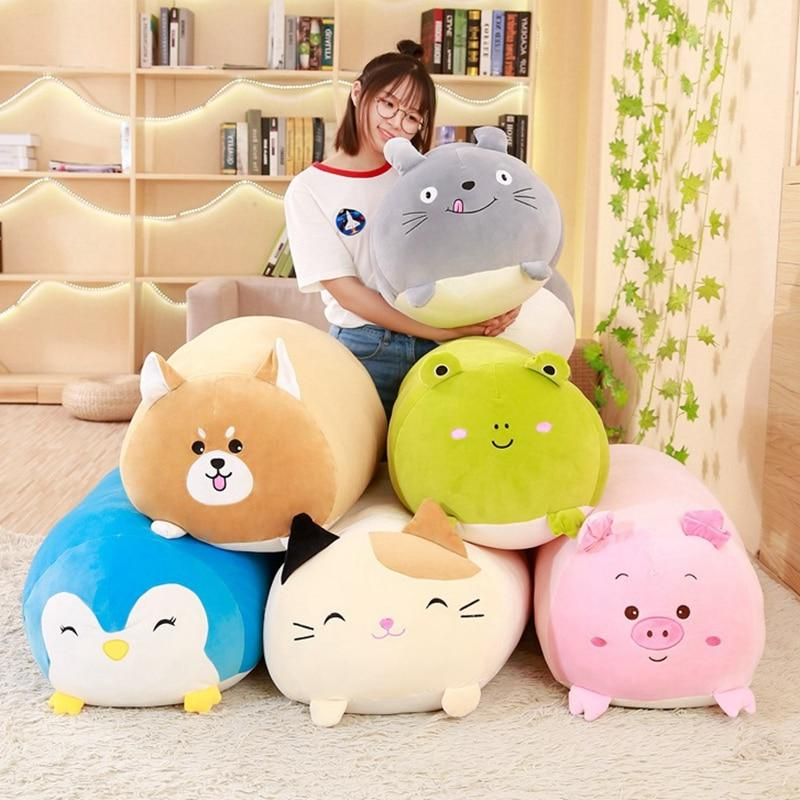 30CM Soft Pillow Dog Totoro Pig Frog <font><b>Stuffed</b></font> Kids Gift
