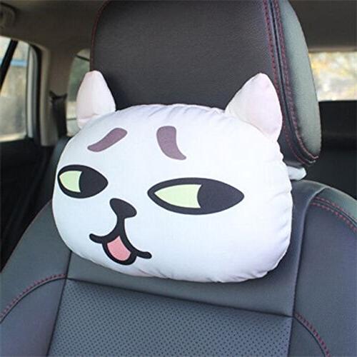 3d cat head neck rest