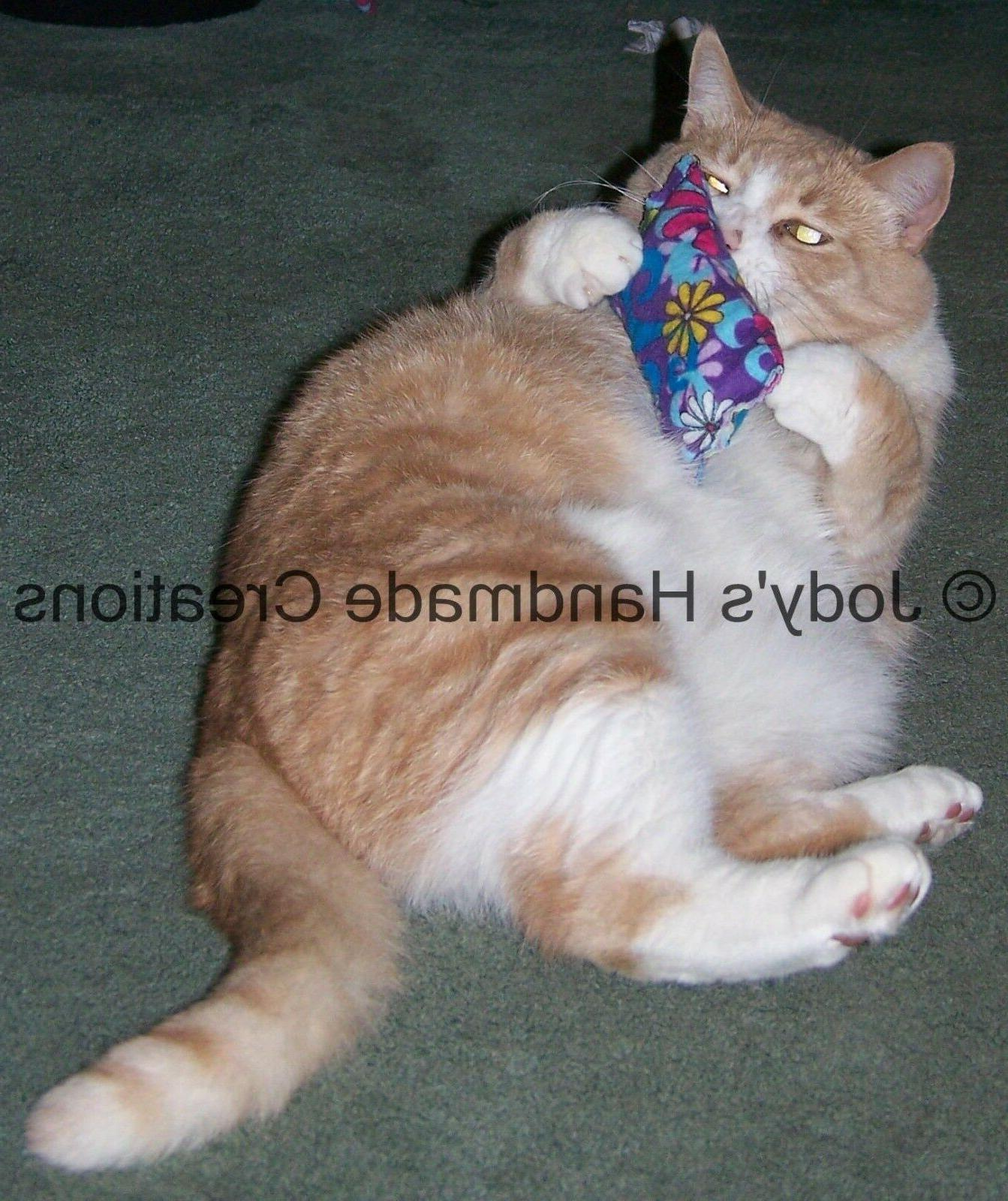 4 HANDMADE CATNIP PILLOW TOYS  OVER 1400+ SETS SOLD!!!