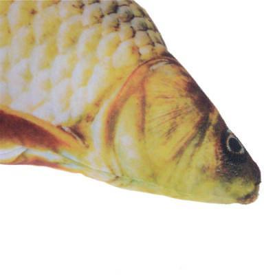 40cm Simulation Crucian Fish Stuffed Toy Catnip Doll Play Chewing ToyHI