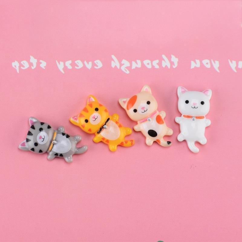 4pcs/Set Cute Sleeping <font><b>Cat</b></font> Resin Crafts Decoration Accessories <font><b>Garden</b></font> Decor <font><b>Toy</b></font>
