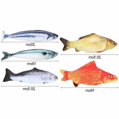5 Interactive Fish Kicker Crazy Pet Toys New