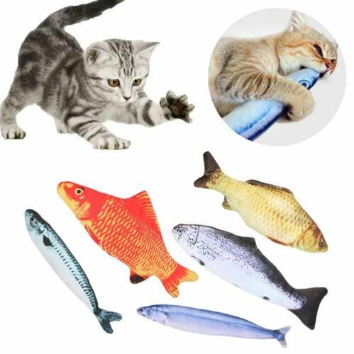 5 pack realistic interactive fish cat kicker