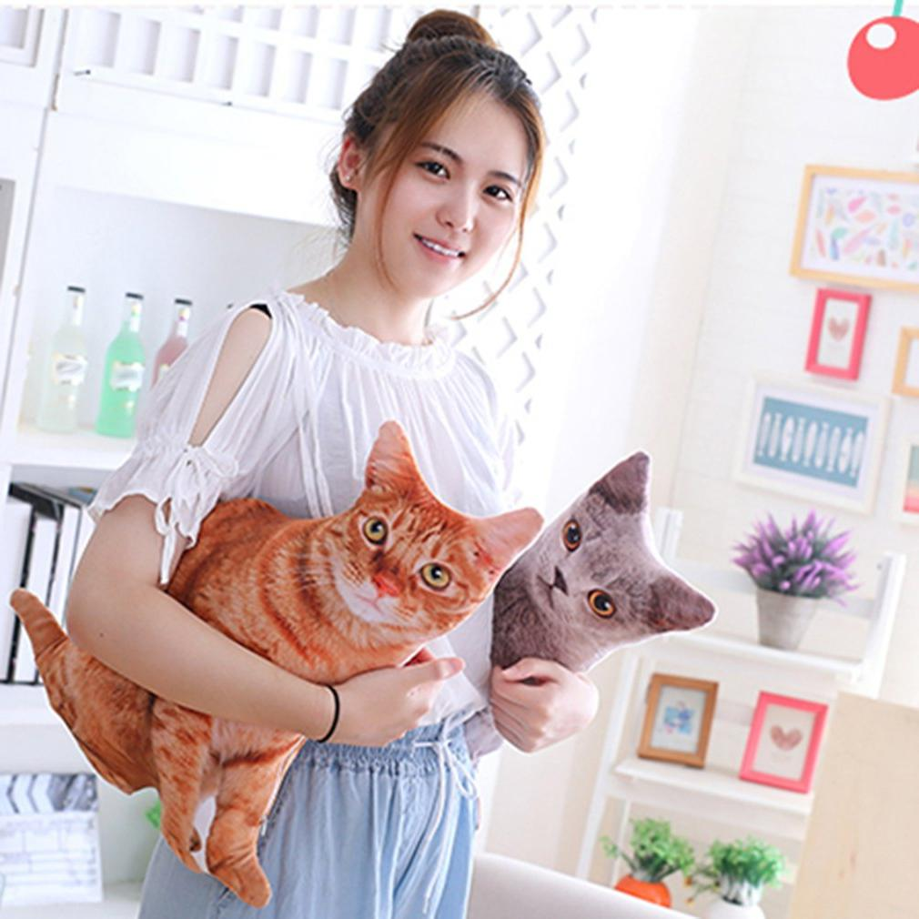 50cm 3D <font><b>Cat</b></font> Pillows Soft Sofa Cartoon Plush <font><b>Toys</b></font> for Gift