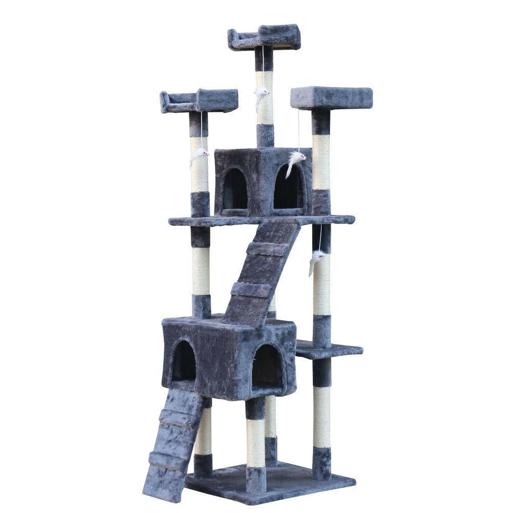"Cat Tree 67"" Kitten Playhouse Condo Furniture Scratching Pos"