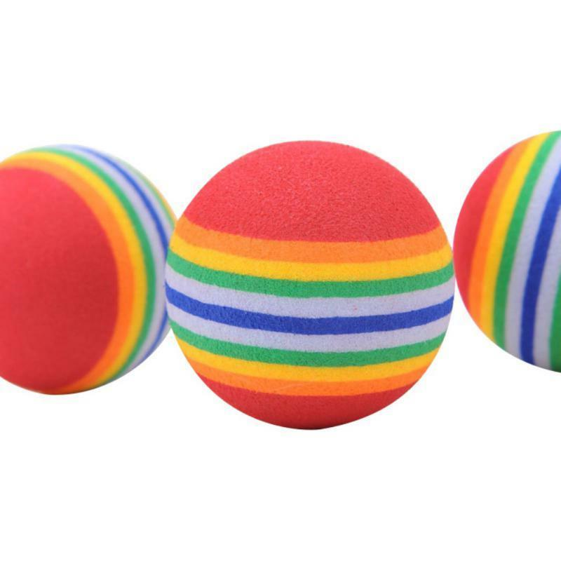 Pet Play Toys Rainbow Colorful Balls