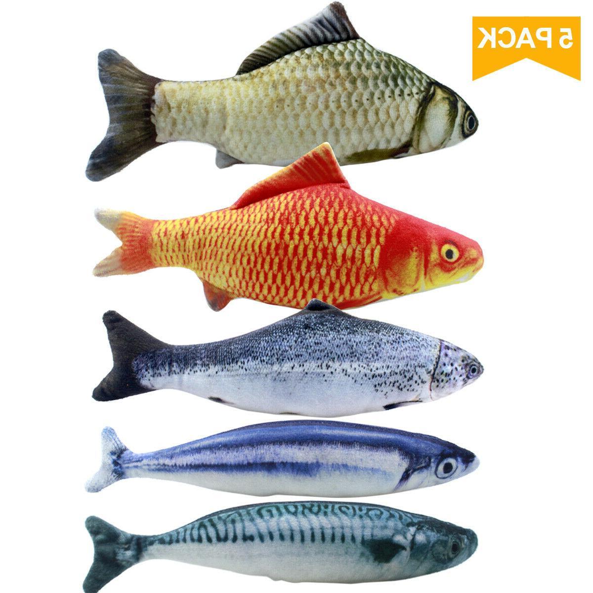 5pcs catnip fish toys for cat 20