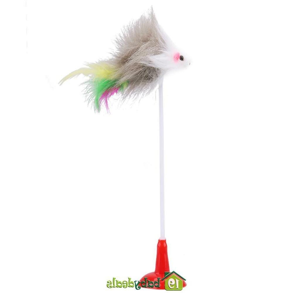 5pcs Toys Feather Mouse Mice Bottom for