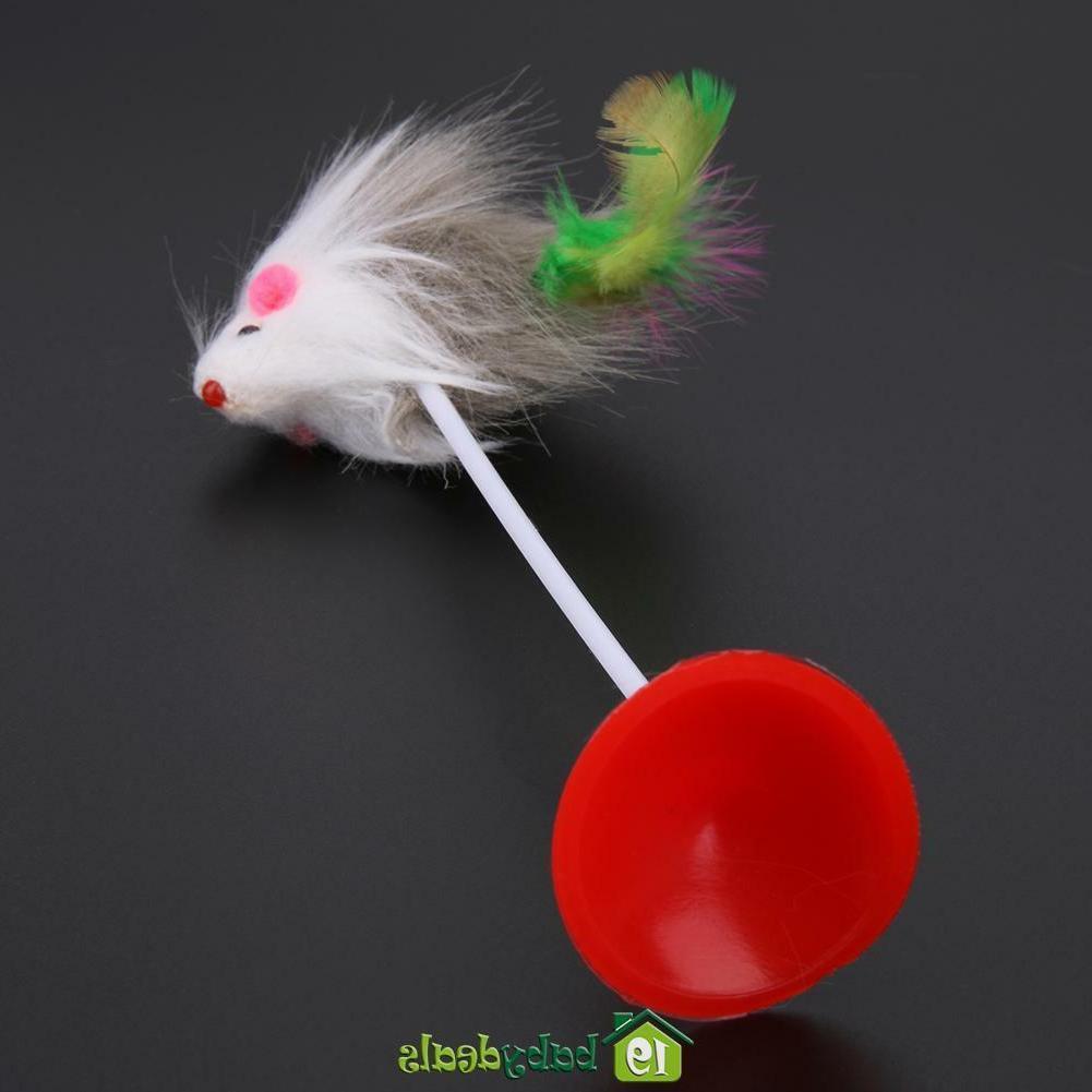 5pcs Toys Feather Plush Mice for Kitten
