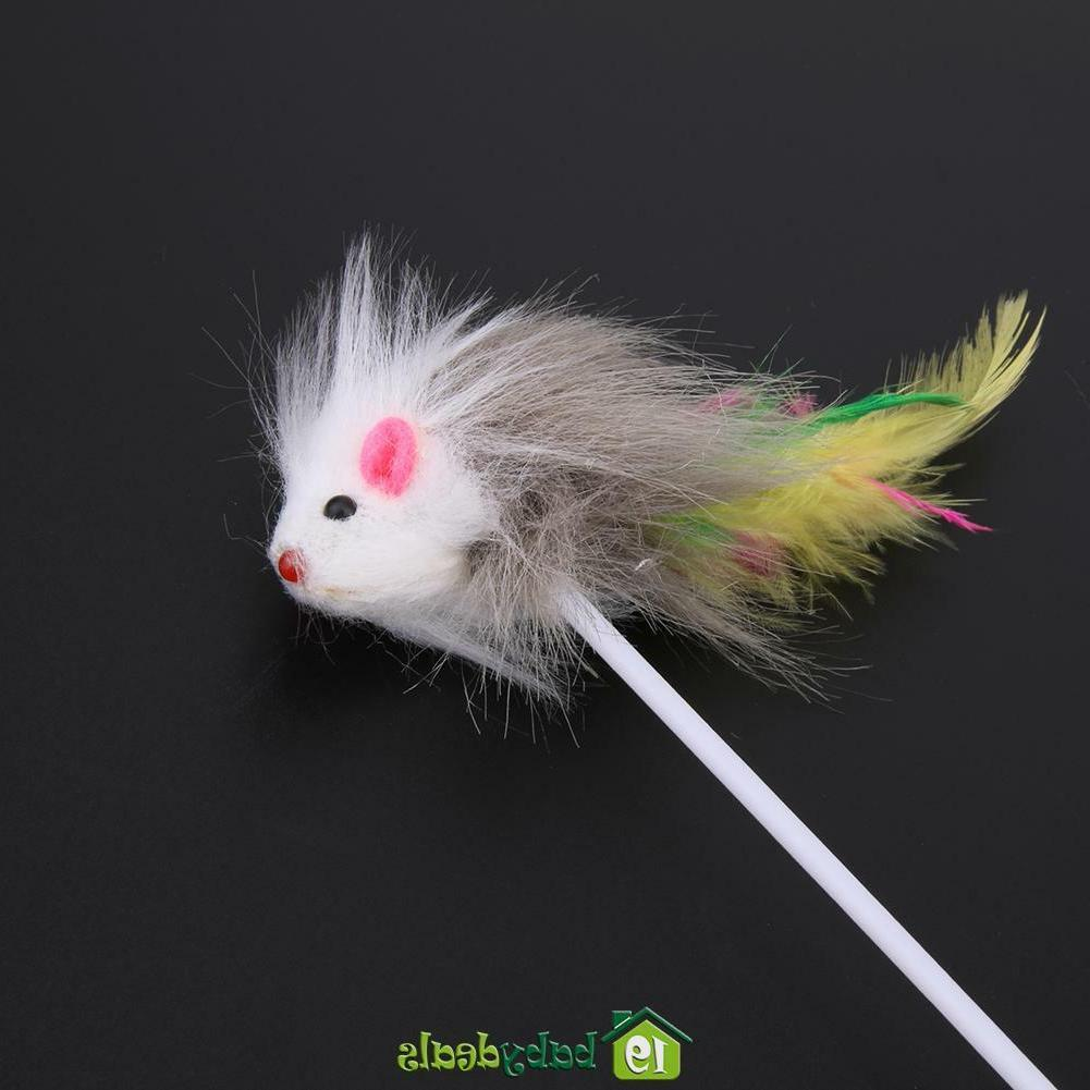 5pcs Funny Cat Toys Feather Mice for Kitten