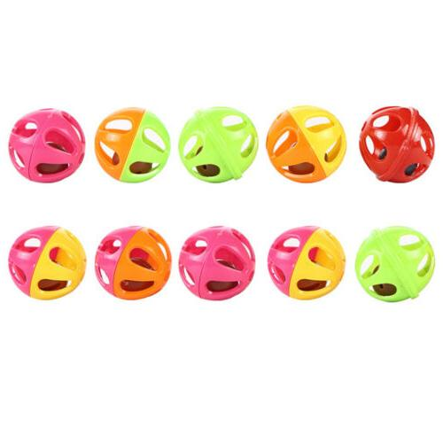 5pcs pet small bell hollow out balls cat toys for