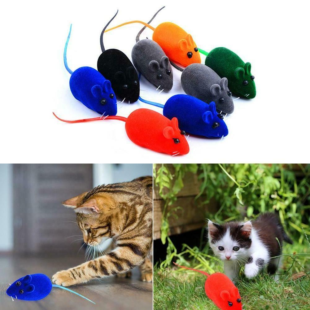 5PCS Sound Cat Toys Rubber Vinyl