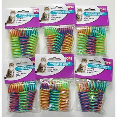 6 pack ethical pet colorful springs cat