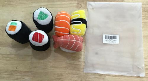 6 pack sushi cat toys w catnip