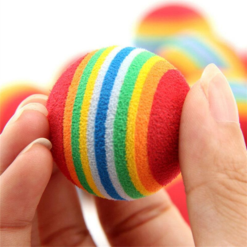 6pcs Cat Soft Foam Balls Colorful Activity Toys