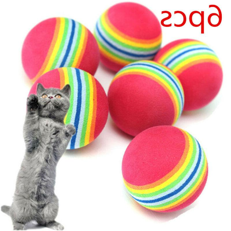 6pcs pet cat kitten soft foam rainbow