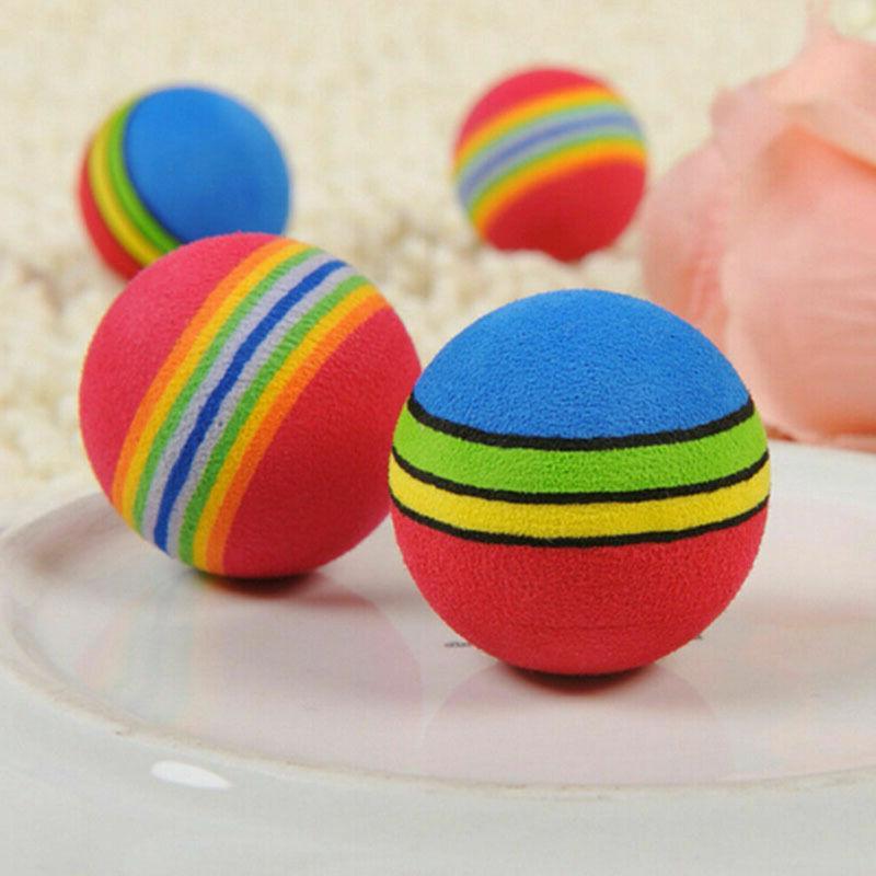 6X Toys Cat Kitten Soft Foam Rainbow Play Balls Activity Toy