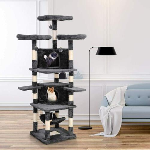 "75""Cat Tower Condo Home Kitty Furniture"