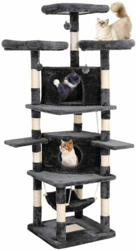 "75""Cat Tower Condo Home Kitty Furniture Gray"
