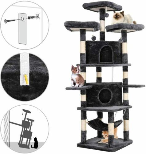 "75""Cat Home Kitty Furniture Gray"
