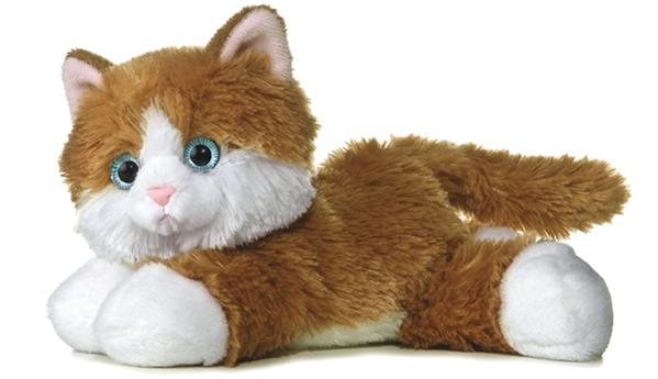 8 inch mini flopsie kitty cat plush