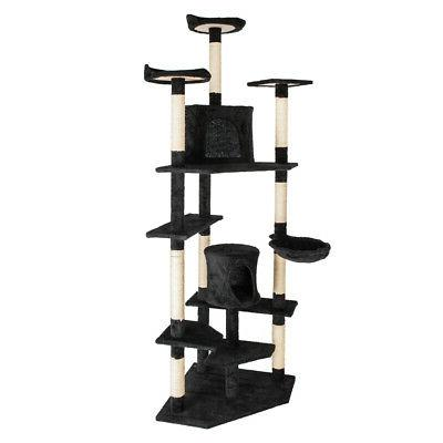 "80"" Cat Tree Tower Condo Furniture Bed Post Pet"