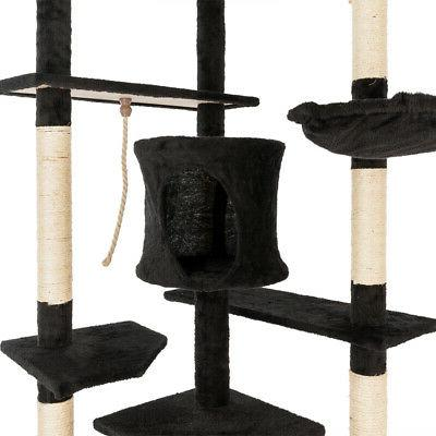 "80"" Cat Tower Condo Post Pet Kitty House"