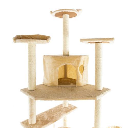 "Large 80"" Condo Pet climb Toys Beige"