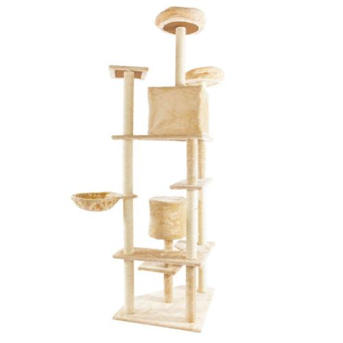 Large Condo Scratching Pet Toys Beige
