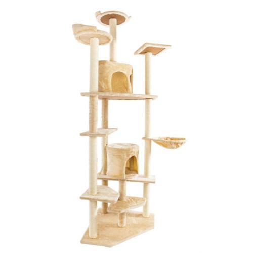 """Large 80"""" Cat Tree Condo Furniture Scratching Post Pet Cat c"""