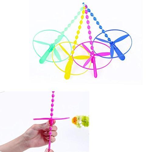 Dartphew Toys,Dartphew 40 Pcs Plastic Bamboo Dragonfly Prope