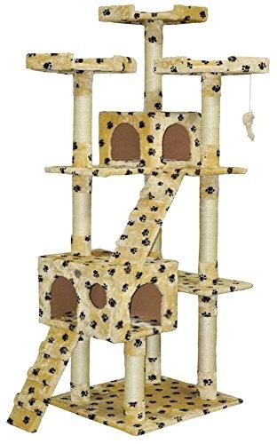Fanciful Home & Garden Decor Cat Tree 6 Foot 4 Tier Scratchi