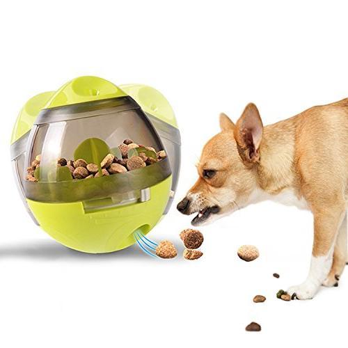 GUSTYLE Tumbler Dog Food Feeder IQ Treat Ball to Slow Eating