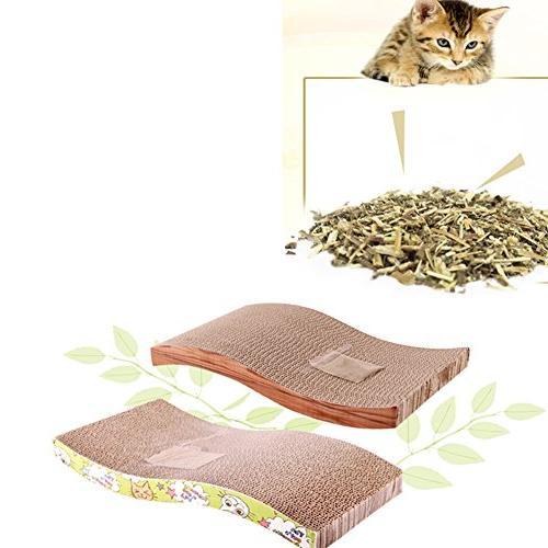 Homedeco Catnip Cat Scratch Board Incline Kitty