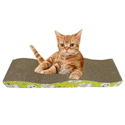Homedeco Wave Catnip Scratcher Cat Scratch Kitty Toy
