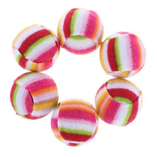 Jocestyle Pet Dog Rainbow Ball Bell Toy 6pcs/Set Cat Chew Pl