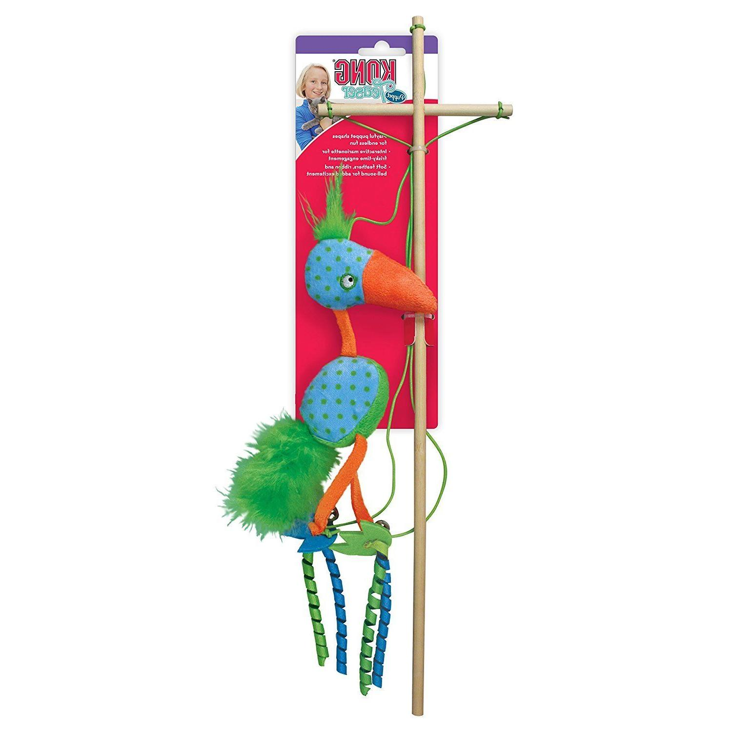 KONG Puppet Teaser Cat Toy Come in  Asst Color