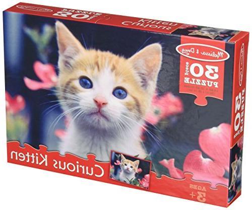 Melissa & Doug Curious Kitten Garden Cat Jigsaw Puzzle