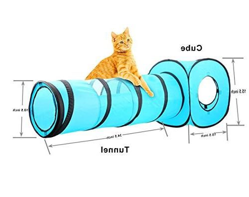 PAWISE Tunnel Cat Cube Pop Indoor Toys