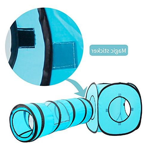 Tunnel and Cat Pop Up Collapsible Kitten Indoor Outdoor