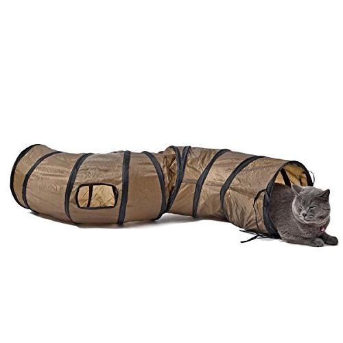 PAWZ Road Cat Toys Collapsible Tunnel for Rabbits, Kittens,